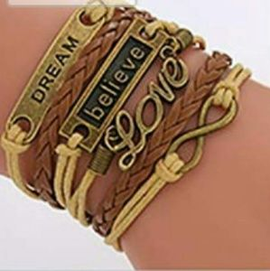 Jewelry - BRAND NEW BROWN TAN MULTI LAYER BRACELET